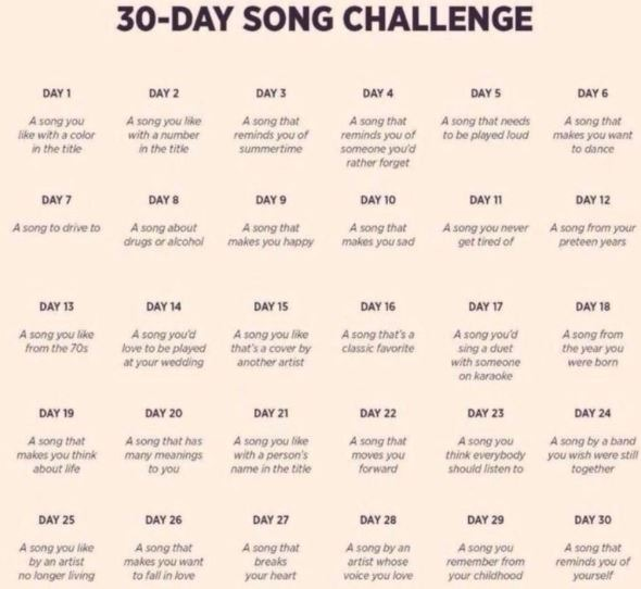 30 Day Song Challenge Our Rach